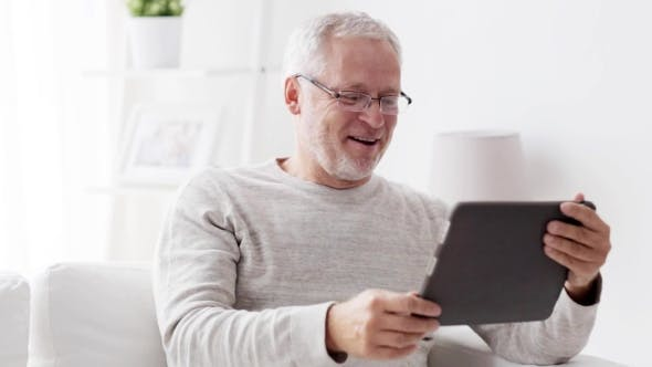 Thumbnail for Senior Man With Video Call On Tablet Pc At Home 88