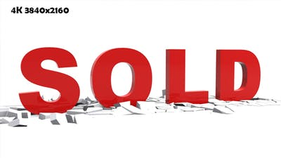 3D Text - Sold Animation