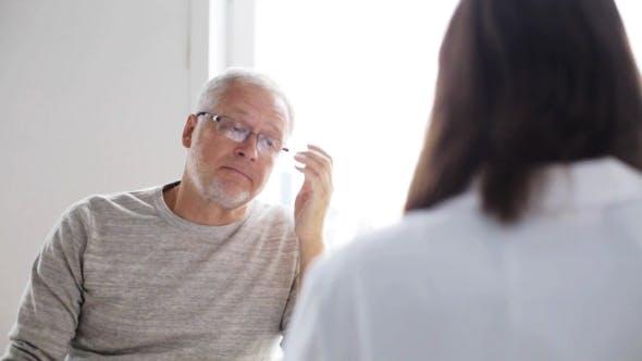 Thumbnail for Senior Man And Doctor Meeting At Hospital 39