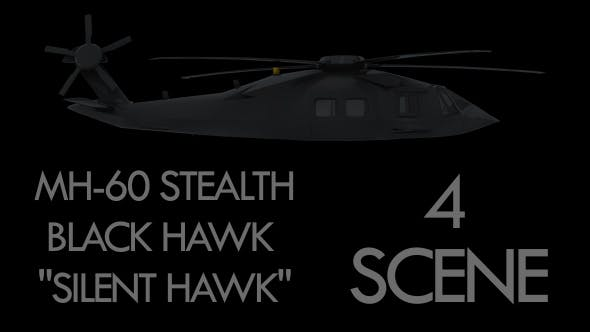 """Military Helicopter Stealth Black Hawk - """"Silent Hawk"""" - Pack"""
