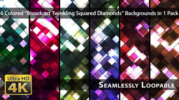 Thumbnail for Broadcast Twinkling Squared Diamonds - Pack 02