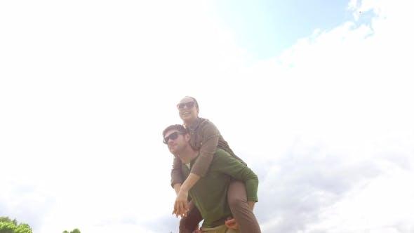 Thumbnail for Happy Couple Having Fun Outdoors 8