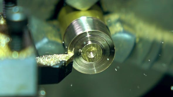 Thumbnail for Rotating Part Of Lathe Machine And Cutter
