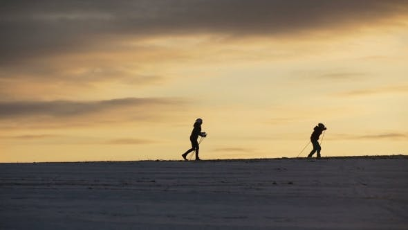 Thumbnail for Cross-country Skiing on Field
