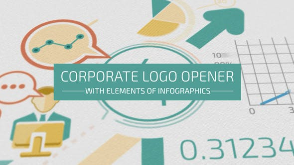 Thumbnail for Corporate Logo Opener With Elements Of Infographics