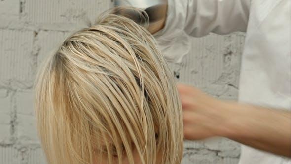 Thumbnail for Hairdresser Drying Woman's Hair Using Hair Dryer