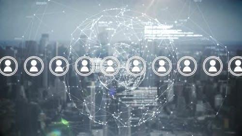 Soziale Medien und Blockchain-Technologie