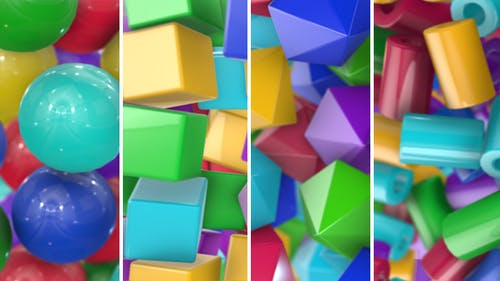 Colored Geometric Shapes Transitions