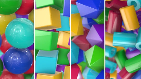 Thumbnail for Colored Geometric Shapes Transitions