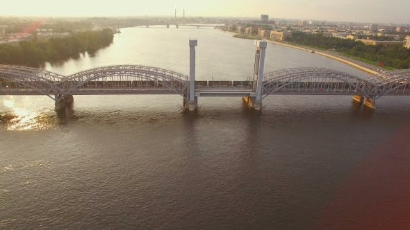 Thumbnail for Beautiful Aerial View Of The Railway Bridge Across The River