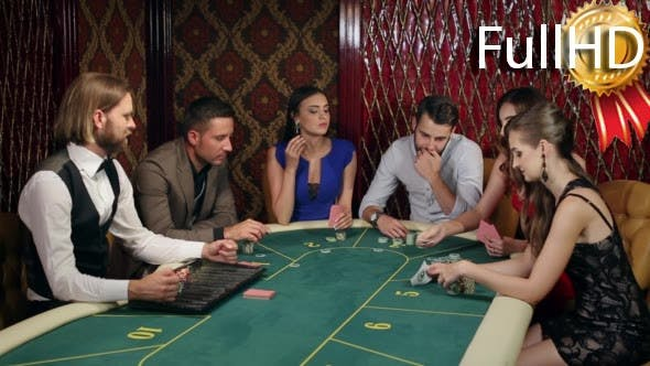 Thumbnail for People Make Bets in Casino