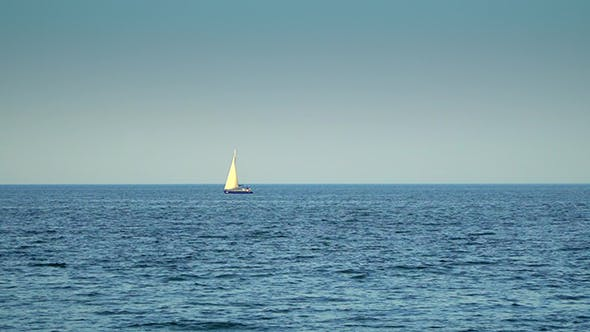 Thumbnail for The Yacht is Under Sail Floats in the Sea