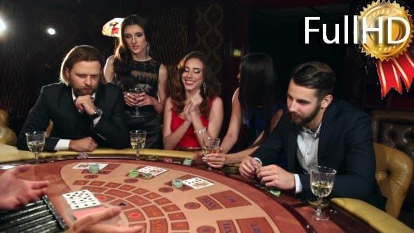 Lucky Woman Winning Money in the Casino