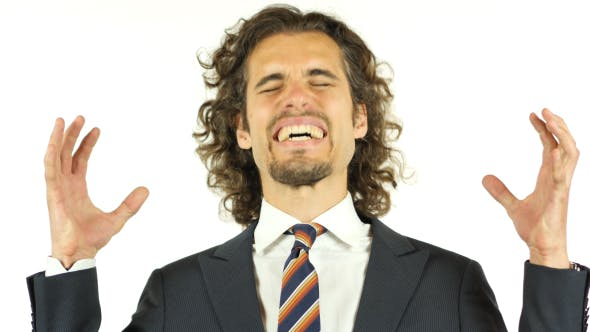 Thumbnail for Angry Businessman Screaming after Failure