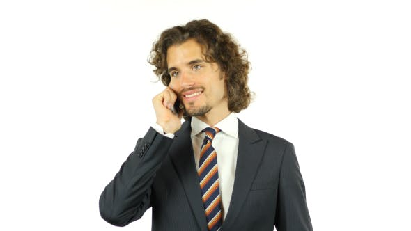 Thumbnail for Businessman Talking Business on Phone