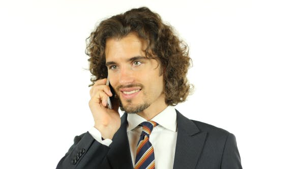 Cover Image for Talking Business on Phone, Portrait