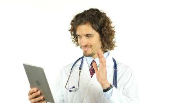 Thumbnail for Doctor Online Video Chat via Tablet