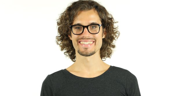 Thumbnail for Smiling Young Man w/ Curly Hairs