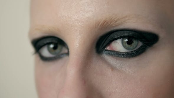 Thumbnail for Portrait Of Woman Eye With Black Feather,  Eye