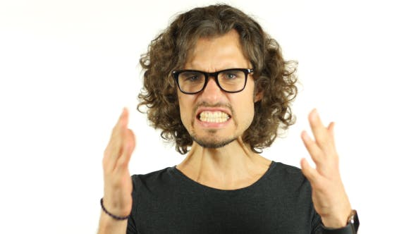 Thumbnail for Anger, Angry Man w/ Curly Hairs