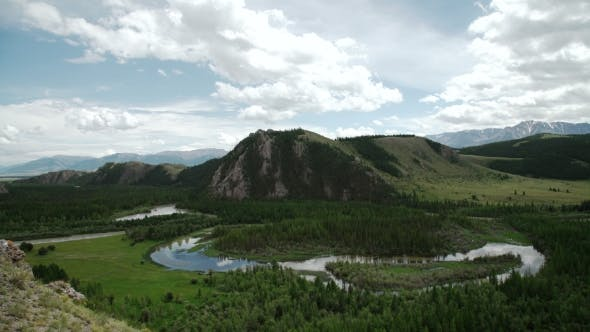 Thumbnail for Mountain Landscape Panorama Altay River