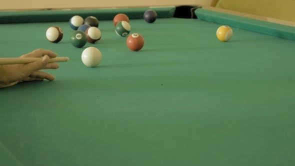 Thumbnail for Man Playing Pool Billiard, Snooker.