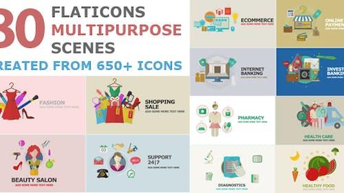 Flat Icons Multipurpose Scenes