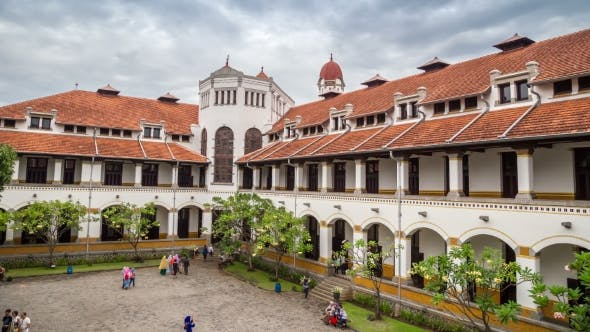 Cover Image for The Building Of The Railway Lawang Sewu Company In Semarang. Also One Of The Historic Wartime