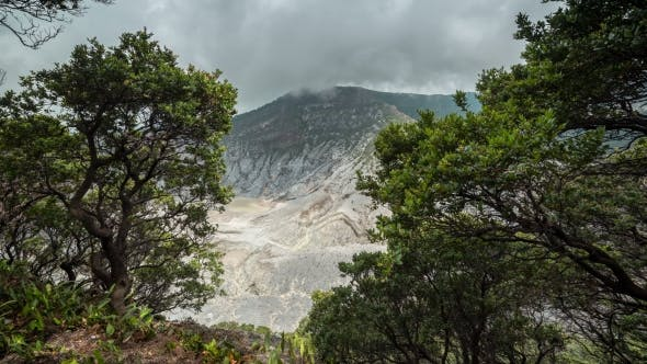 Thumbnail for Travelling Around The Mountain Of Tangkuban Perahu In Bandung, Indonesia.   - Java, Indonesia, June