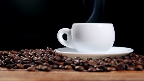 Cup With Hot Drink On Roasted