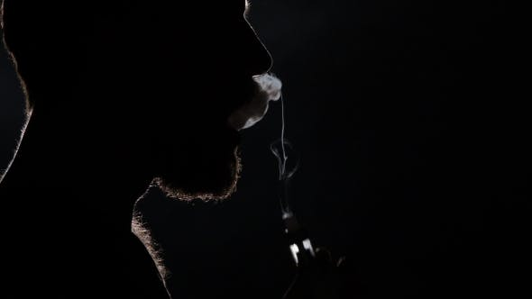 Thumbnail for Bad Habits. Electronic Cigarette. Black. Silhouette.