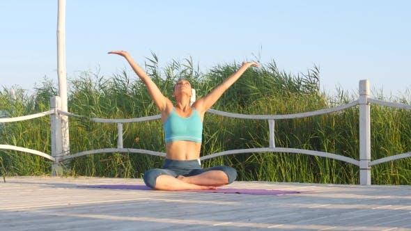 Thumbnail for Girl Meditates. Nature