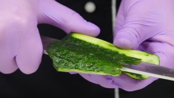 Thumbnail for Chef Carves Crafts Cucumber.