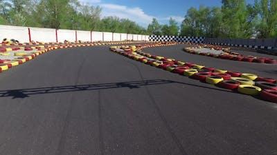 Karting Track. Overhead Shot