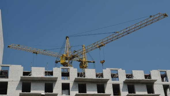 Thumbnail for The Movement Of Cranes On The Construction Site