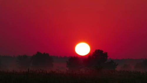 Colour Sunrise Over The River
