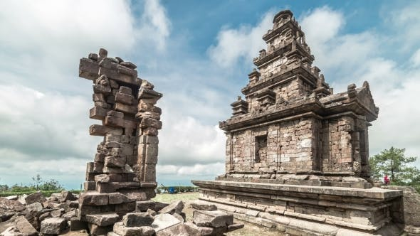 Cover Image for Ancient Ruin Hindu Temple Gedong Songo In Central Java, Indonesia.   - Java, Indonesia, June 2016.