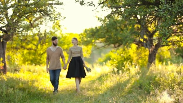 Thumbnail for Young Couple Walking