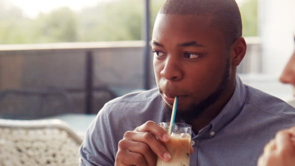 Thumbnail for Young African American Male Drink Cocktail