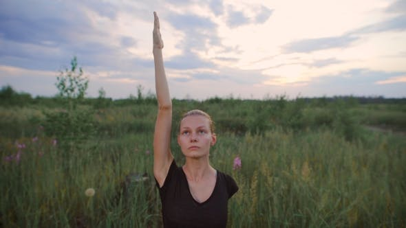 Thumbnail for Beautiful Young Healthy Woman Doing Yoga Exercise