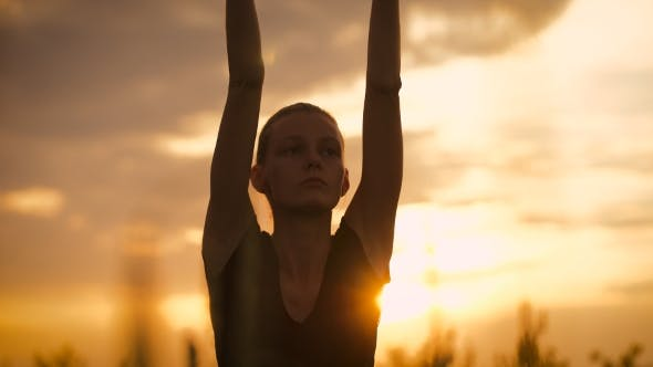 Thumbnail for Beautiful Young Healthy Woman Doing Yoga Exercise During Sunset