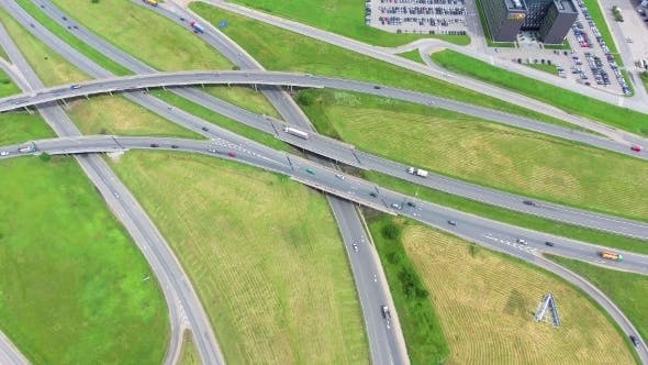 Aerial View Of Big Roadcross