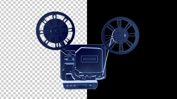 Thumbnail for 16MM Film Projector - 3D Outline