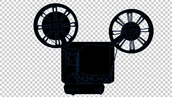 Thumbnail for 16MM Film Projector - 2D Outline
