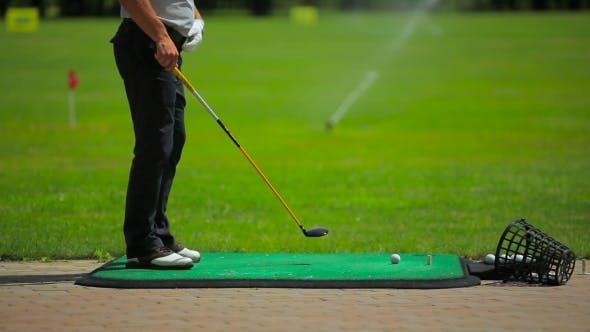 Thumbnail for A Club Hit The Ball Twice Near The Golf Field