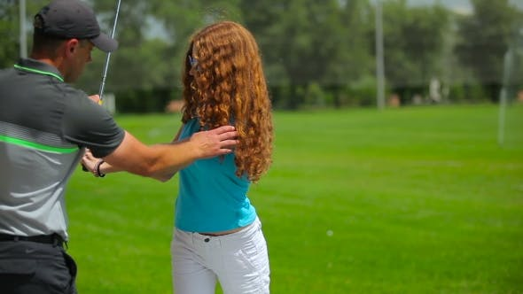 Thumbnail for Woman Training Play Golf