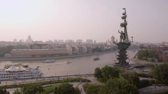 Thumbnail for Muzeon Park, Fountains On The Embankment Of The Moscow River