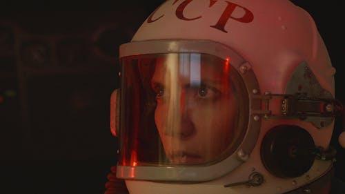 Attentive Female Cosmonaut