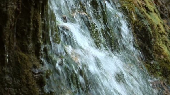 Thumbnail for Waterfall In Autumn Forest