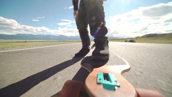 Thumbnail for Skateboarder Boy Riding Outdoor